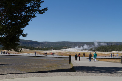 Old Faithful - taking a little rest.