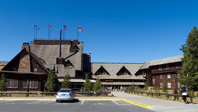 Old Faithful Inn - the famous old-time lodge.