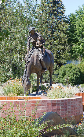 The Sacajawea sculpture