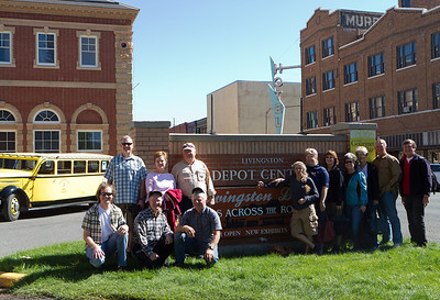Here are some of the Cousins gathered to take a leisurely and informative tour of Livingston, MT in the Yellowstone bus in the background.  It was a great way to share and learn about the area.