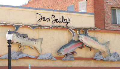 The famous Dan Bailey's fishing supply store.