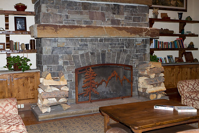 Great fireplaces showed preparation for the coming winter season.