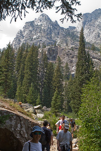 This is a great place to take a hike - the views are always changing, dominated by the high mountains.