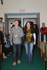 Awe, so happy. Zach escorting Mom.  Fyi, Melinda is a shocker fan.