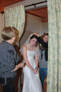 The veil was worn in her Mom's, Trish Leibold, wedding