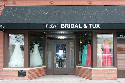Out of 5 bridal shops, this one had the only white dress and it was Bri's size.  The alternations are usually 2 weeks out, but the seamstress went above and beyond and had the dress ready for Thursday.