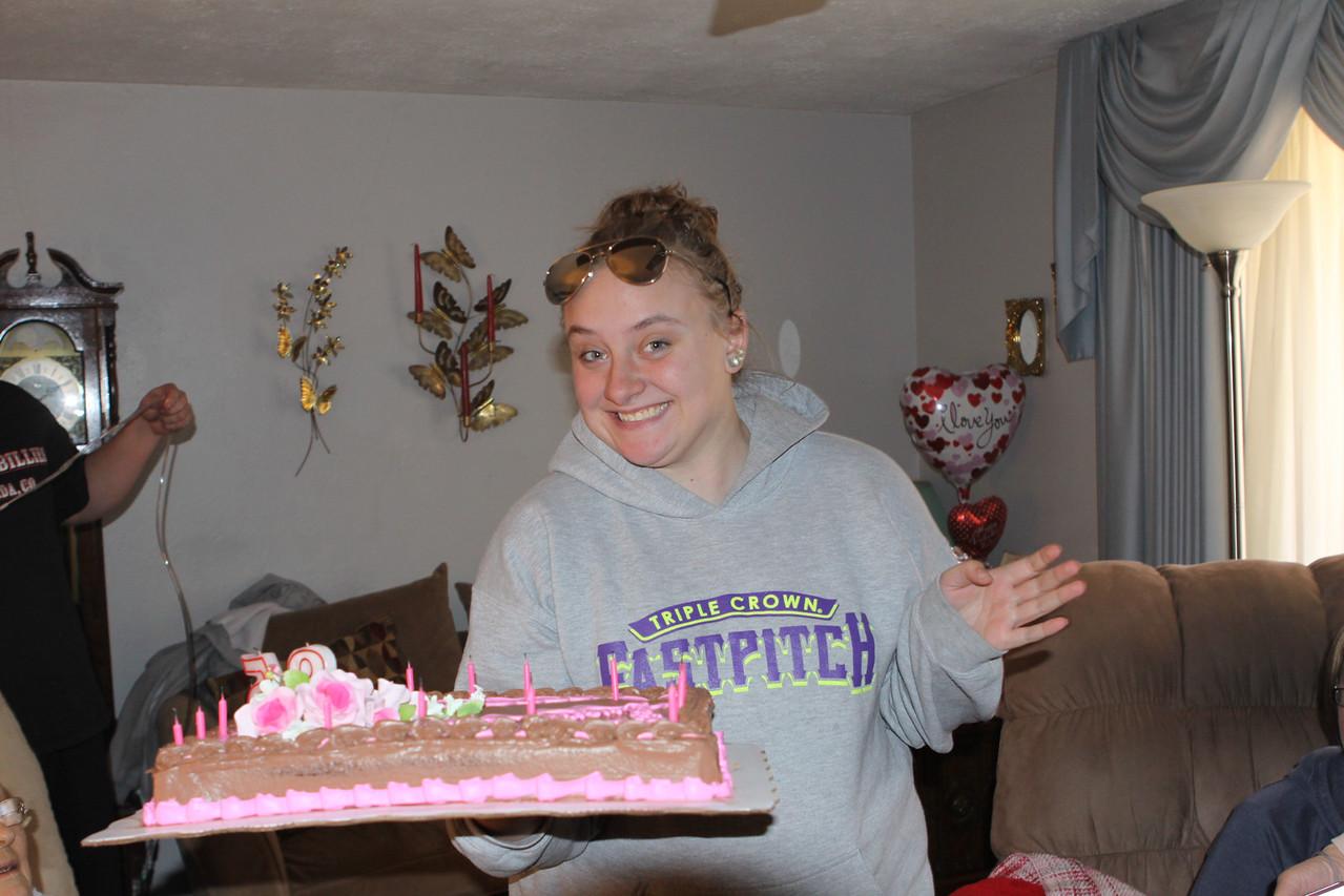 Katie Peters, the Cake walker.  Daughter of Kelli, Granddaughter of Theresa and Aunt Jean's Great-greanddaughter