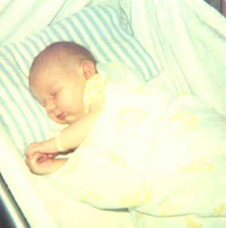 Craig Taylor - first ever photo. Aged 7 days - hospital, Townsville (28-01-1975)