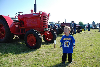 Craig loves Tractors and was in his element at the vintage tractor show at Park Farm. June 2008.