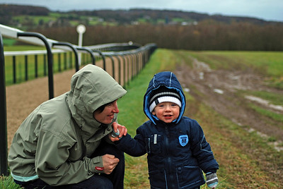 On the gallops at Manor House Stables Dec 2007.