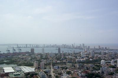 Cartagena, Columbia. View from  Monastery at Cerro de la Popa