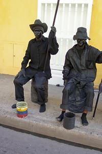 Street performers, Cartagena, Columbia
