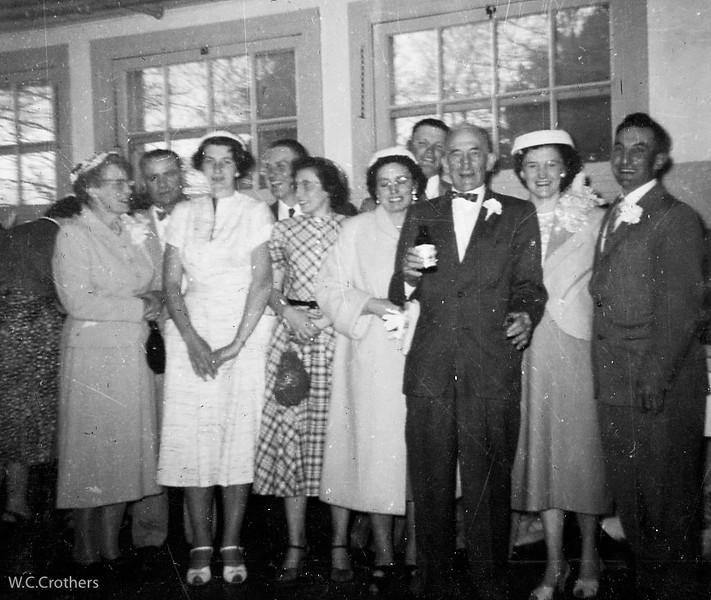 20090115-Kathryn, Harold, Carole Ernie, Carmel, Dlephine, Cletus, Camille, Ceal and George wedding 1956-1344SM