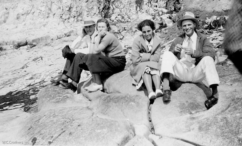 20090101-Ted, Friend Alice,Delphine, Cletus 1935-1063SM