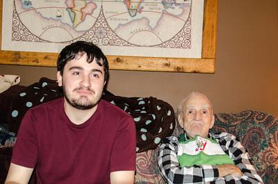 Eric and Grandpa Croxton