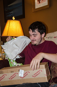 Eric opens his gifts