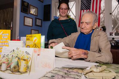 Grandpa Croxton Opening a Card