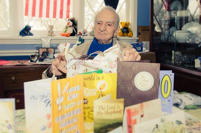 Grandpa Croxton Opening Gifts