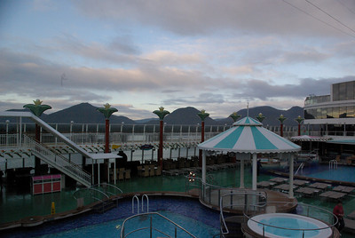 Sunrise on the Norwegian Pearl, somewhere on the Pacific ocean.