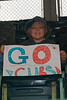 Noah rootin' for the Cubs
