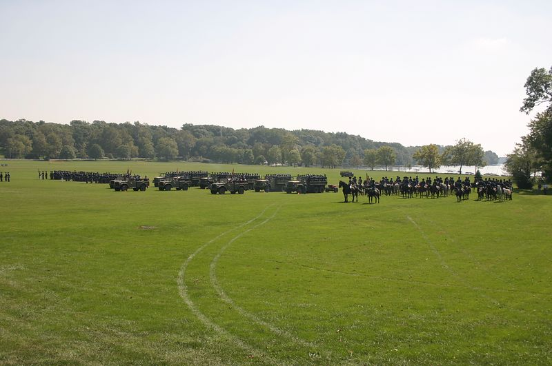 Artillery, battery, and troop units during parade September 12.