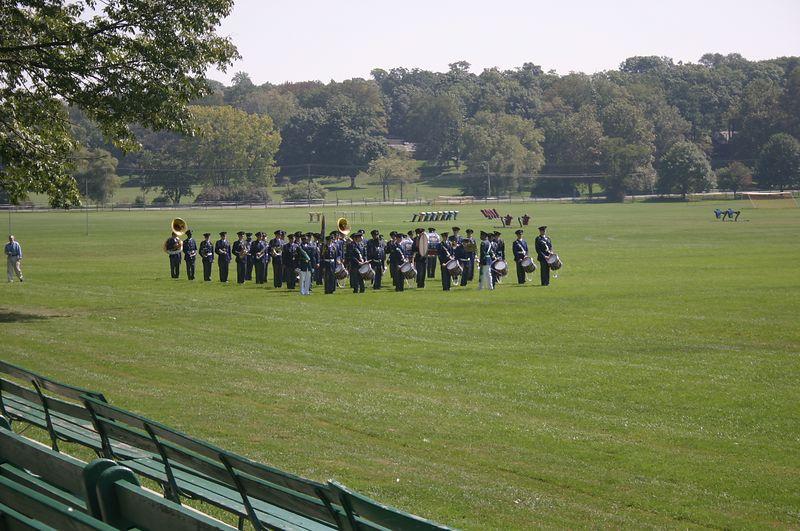 Band finishing up the parade September 12.