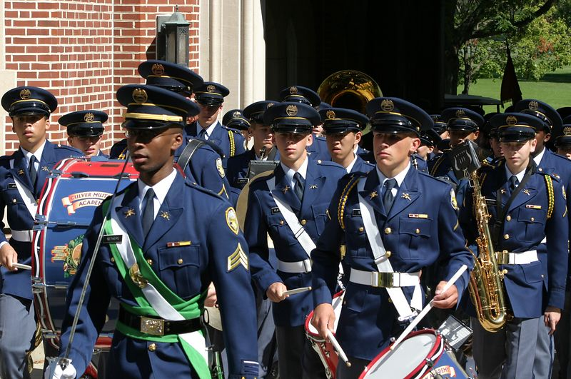 Band Unit passes through Sally Port after the parade on September 19.