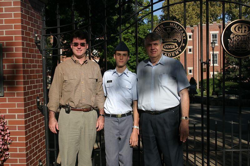 Tim, Evan, and Grandpa Dan September 19