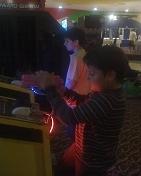 jugando en La Gran Plaza