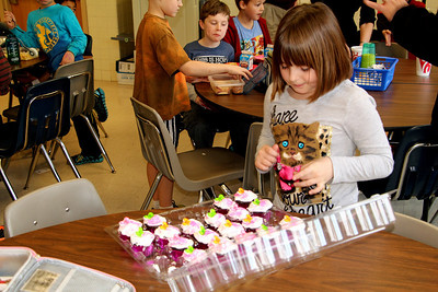 Cupcakes at School for Katherine's Ninth Birthday