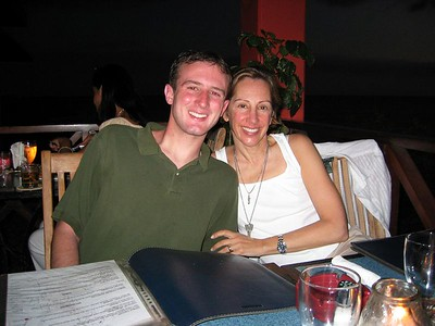 Dan and Mom at dinner