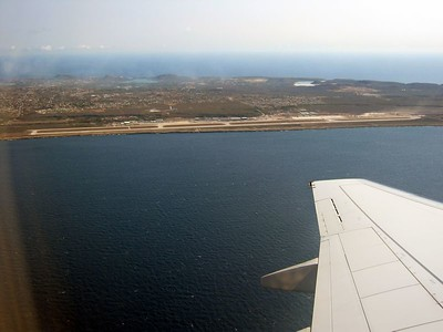 Curacao airport, departing