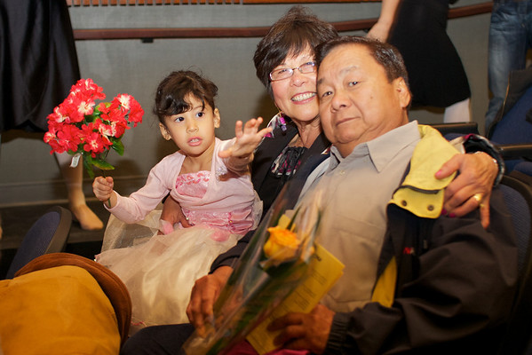 Cyane with her proud grandparents