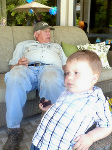 Joey & Grandpa relaxing
