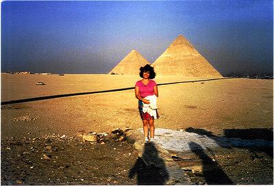 mom at Pyramids 1985