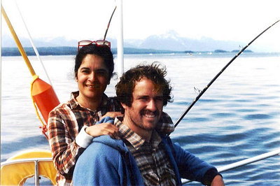 David and Michelle in Alaska-premarriage on Teeter boat
