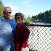 Nice shot of Dad and June with the fence blocking the view of the falls, DUH