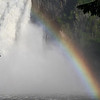 Snoqualmie falls from the bottom, nice rainbow huh :)