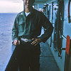 March 1965: Believed to be Capt. Al Ray, Communications Officer of the 2nd Battalion 4th Marines on board the USS Magoffin (APA-199) en route to Okinawa from Hawaii.