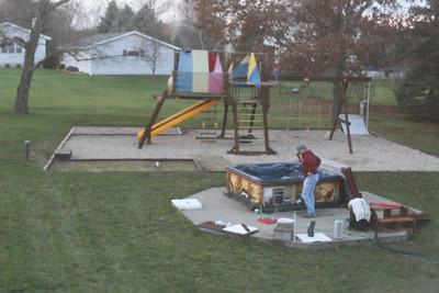 10-27-2012 Dad Fixes the Hot Tub