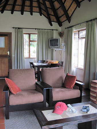Inside the chalet.
