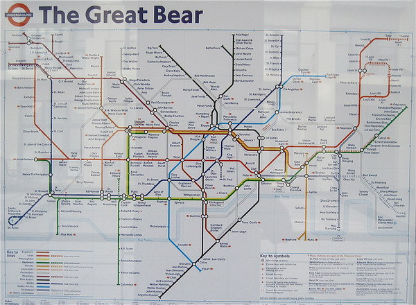 Spoof of London Underground diagram.