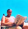 On the beach in Sea Isle, I assume.  Pre 1975?