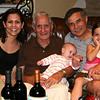 """Our """"four generations"""" photo:  Julie, Gramp, Ella, Marty and Laney"""