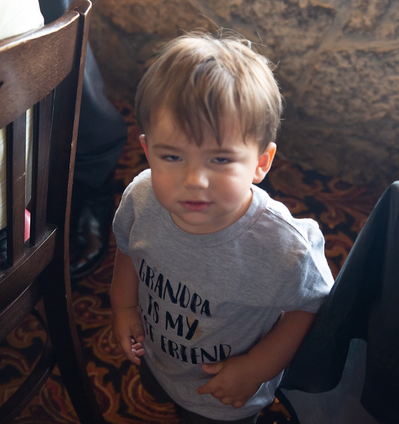 Rene's grandson (funny expression but best pic of T-Shirt)