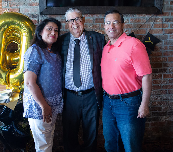 Dad with Julie and Alfonso, good friends of the family