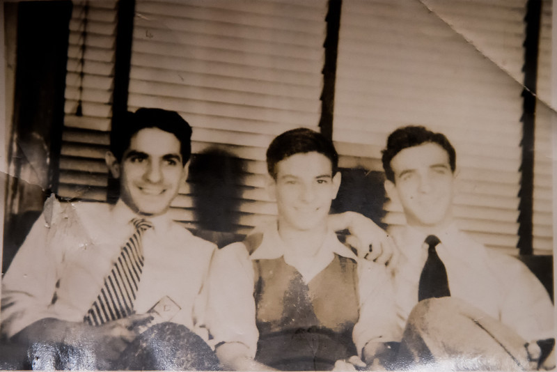 Left to right:  three of the four Cavato brothers:  Dad, Uncle Tom and Uncle Toddy