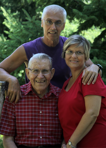 deb and dennis and dad