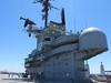 On the Hornet's flight deck.