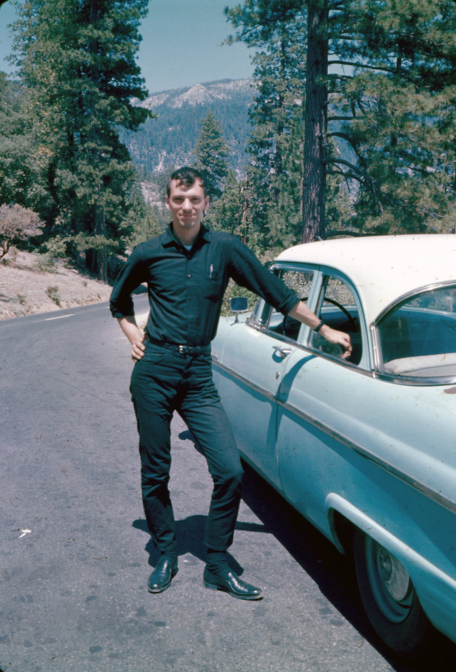 With his 1955 Ford, August 1967